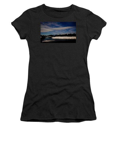 Tetons At Moonlight Women's T-Shirt