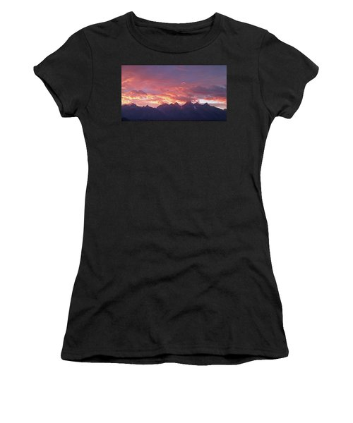 Tetons Sunset Women's T-Shirt