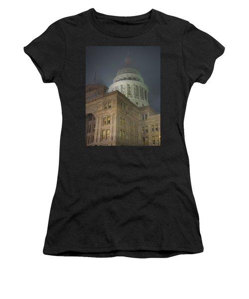 Texas Capitol In Fog Women's T-Shirt
