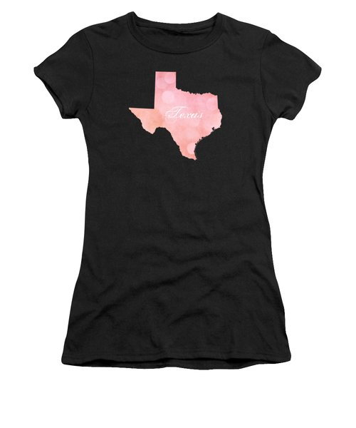 Texas Pink And Coral Bokeh Women's T-Shirt (Athletic Fit)