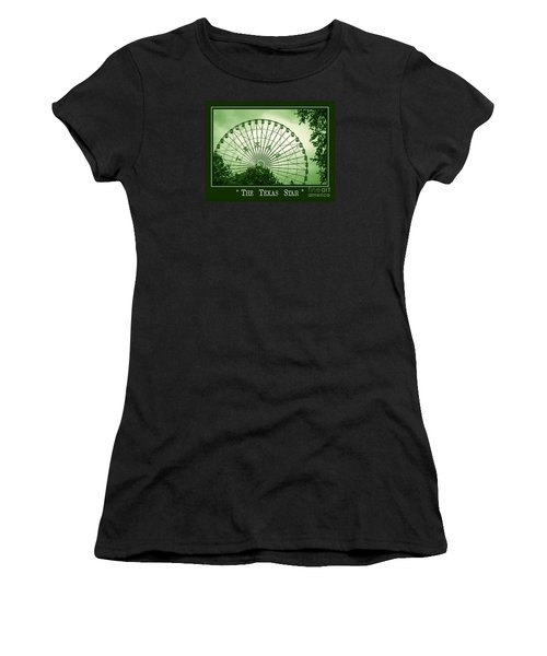 Texas Star In Green Women's T-Shirt