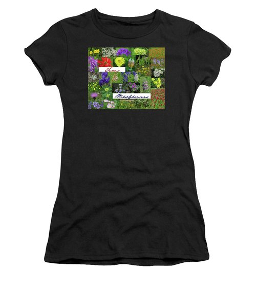 Texas Wildflower Collage Women's T-Shirt (Athletic Fit)