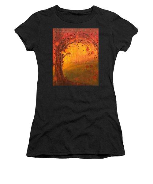 Textured Fall - Tree Series Women's T-Shirt