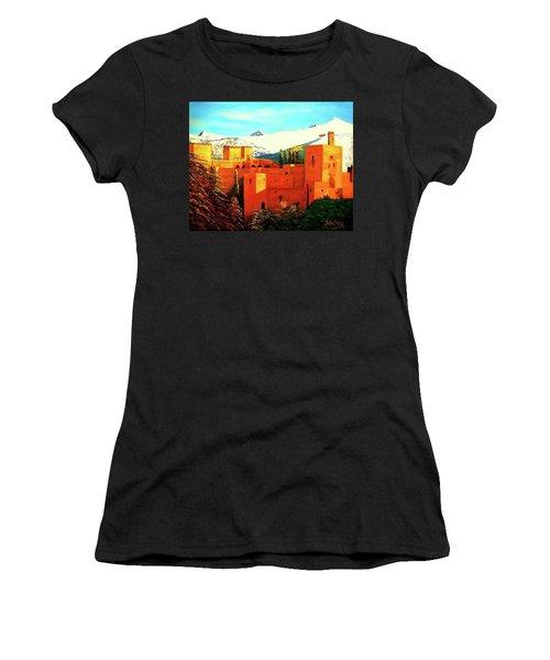 The Alhambra Of Granada Women's T-Shirt (Junior Cut) by Manuel Sanchez