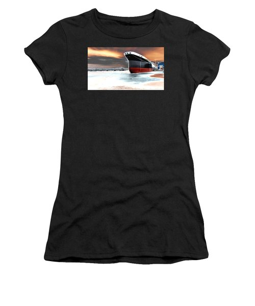 The Ship And The Steel Bridge. Women's T-Shirt