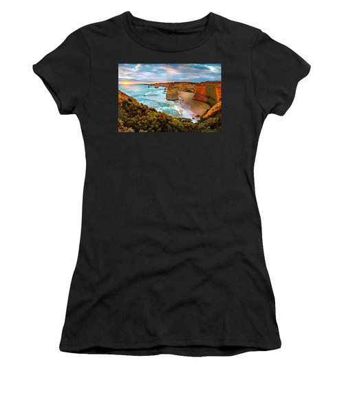 The Apostles Sunset Women's T-Shirt (Junior Cut) by Az Jackson