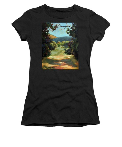 The Backroads - Original Oil On Canvas Summer Landscape  Women's T-Shirt