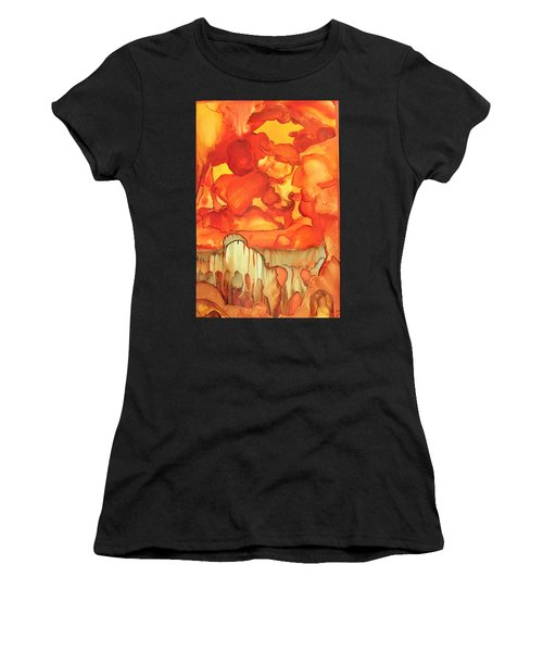 The Ball Of Fire Explodes Women's T-Shirt