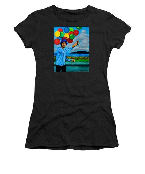 The Balloon Vendor Women's T-Shirt (Athletic Fit)