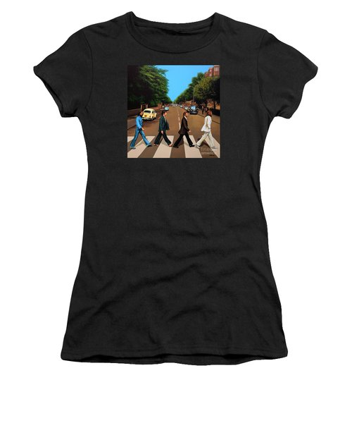 The Beatles Abbey Road Women's T-Shirt (Athletic Fit)
