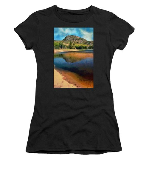 Women's T-Shirt (Junior Cut) featuring the painting The Beehive by Jeff Kolker