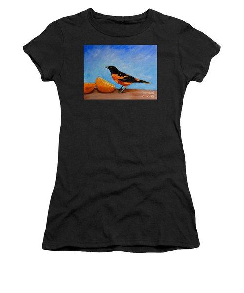The Bird And Orange Women's T-Shirt