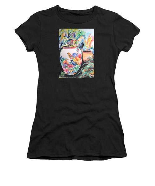 The Bird Flower Pot Women's T-Shirt (Junior Cut) by Esther Newman-Cohen