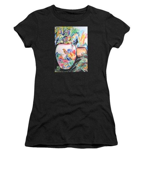 The Bird Flower Pot Women's T-Shirt (Athletic Fit)