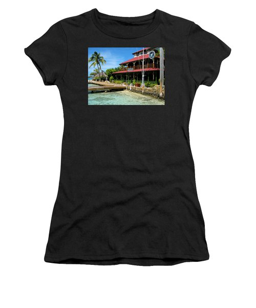 Women's T-Shirt (Junior Cut) featuring the photograph The Bitter End Yacht Club by Adam Romanowicz