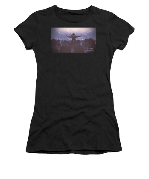The Black Wizard Women's T-Shirt (Athletic Fit)