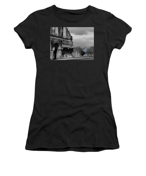 Women's T-Shirt featuring the photograph The Blue Door by Rasma Bertz