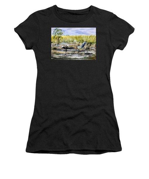 The Blue Egret Women's T-Shirt