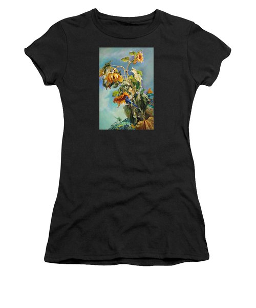The Blue Jay Who Came To Breakfast Women's T-Shirt (Athletic Fit)