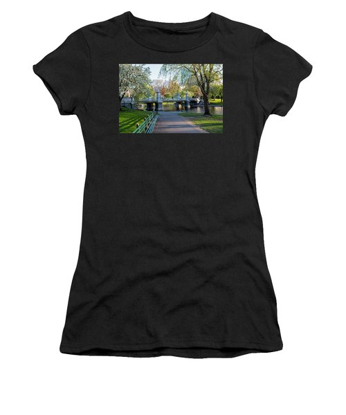 The Boston Public Garden In The Spring Boston Ma Women's T-Shirt (Athletic Fit)