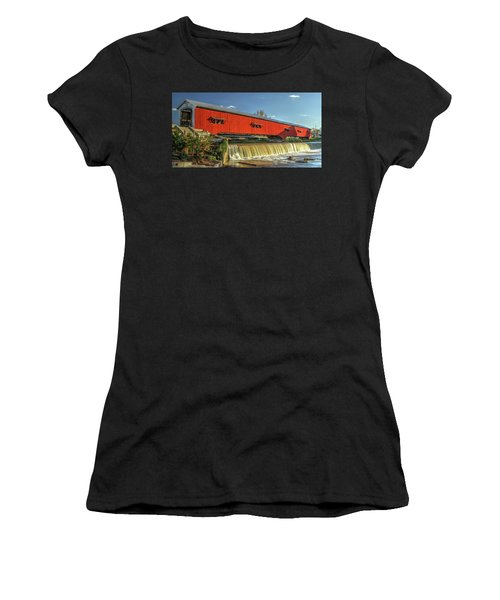 The Bridgeton Covered Bridge Women's T-Shirt (Athletic Fit)