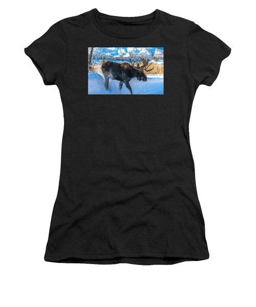 The Bulldozer Women's T-Shirt (Junior Cut) by Yeates Photography