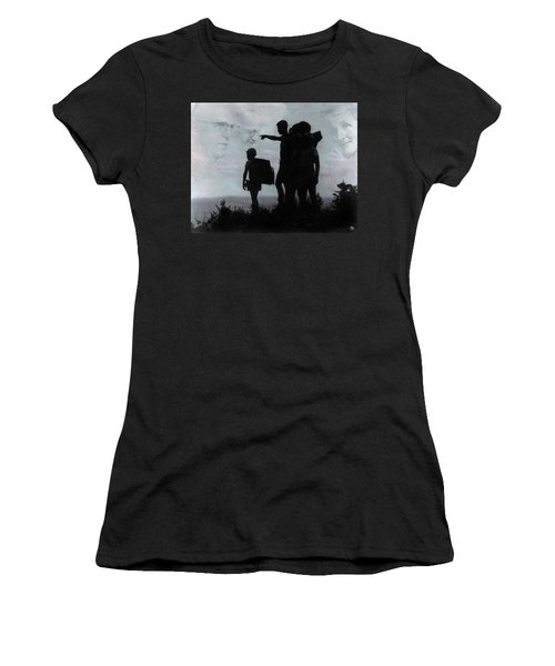 Women's T-Shirt featuring the photograph The Call Centennial Cover Image by Wayne King