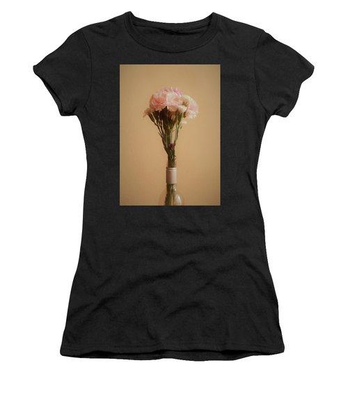 Women's T-Shirt (Junior Cut) featuring the digital art The Carnations by Ernie Echols