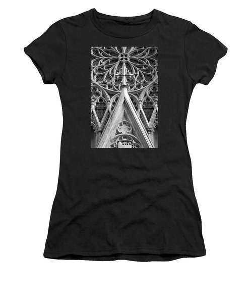 The Cathedral Of St. Patrick Close Up Women's T-Shirt (Athletic Fit)