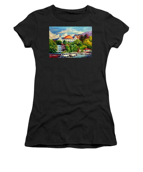The Central Taxi Terminal In Jayapura Women's T-Shirt (Athletic Fit)