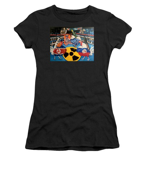 The Chickens Fight Women's T-Shirt (Athletic Fit)
