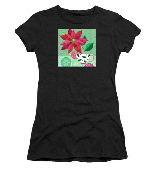The Christmas Poinsettia Women's T-Shirt