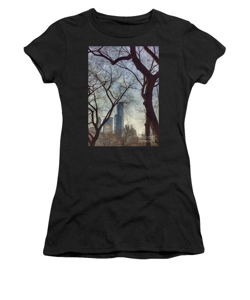 The City Through The Trees Women's T-Shirt (Athletic Fit)