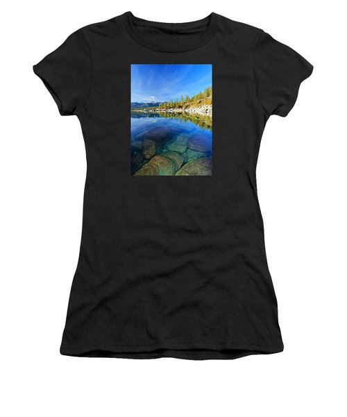 The Clarity Of Lake Tahoe Women's T-Shirt (Athletic Fit)