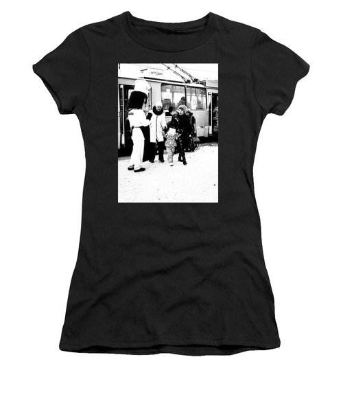 Women's T-Shirt (Athletic Fit) featuring the photograph The Collector Of Smiles by John Williams