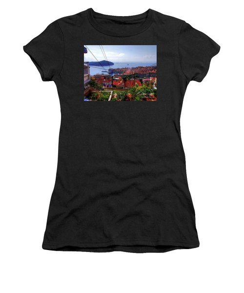 The Colourful City Of Dubrovnik Women's T-Shirt (Athletic Fit)