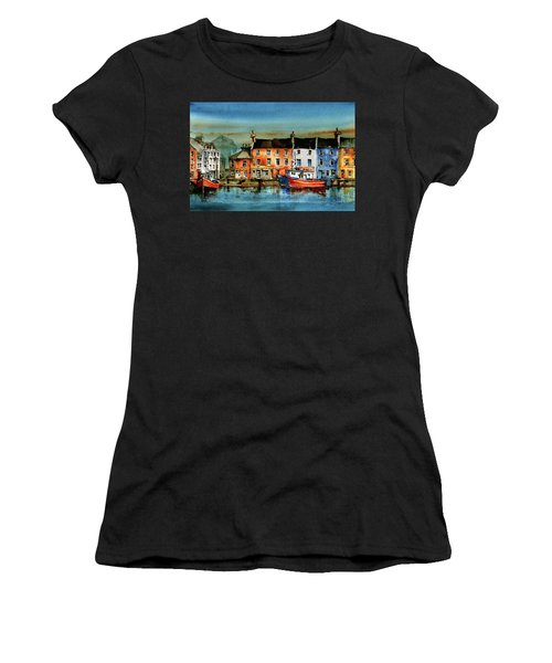 The Commercial Docks, Galway Citie Women's T-Shirt (Athletic Fit)