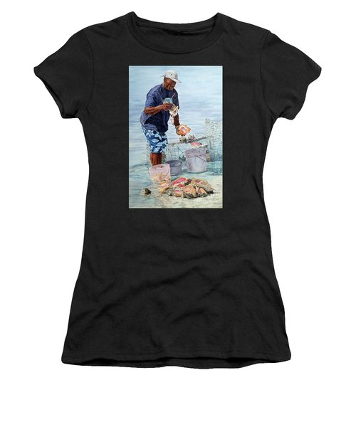 The Conch Man Women's T-Shirt (Athletic Fit)