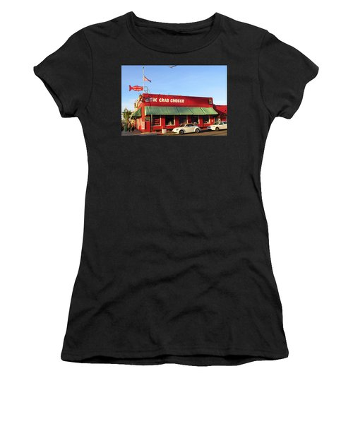 The Crab Cooker In Balboa Park Newport Beach California Women's T-Shirt (Athletic Fit)