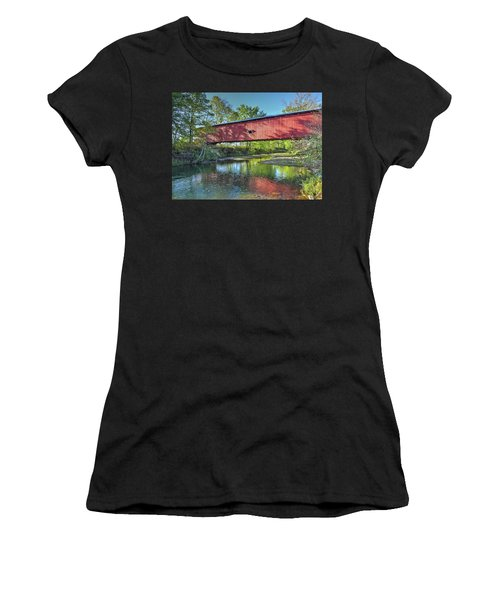 The Crooks Covered Bridge - Sideview Women's T-Shirt