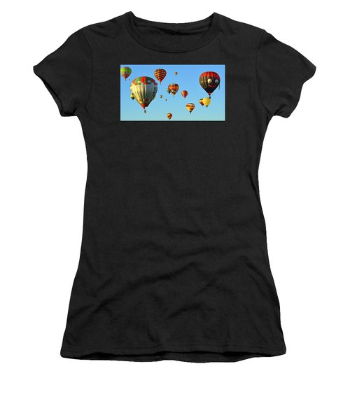 Women's T-Shirt featuring the photograph The Crowded Skies by AJ Schibig