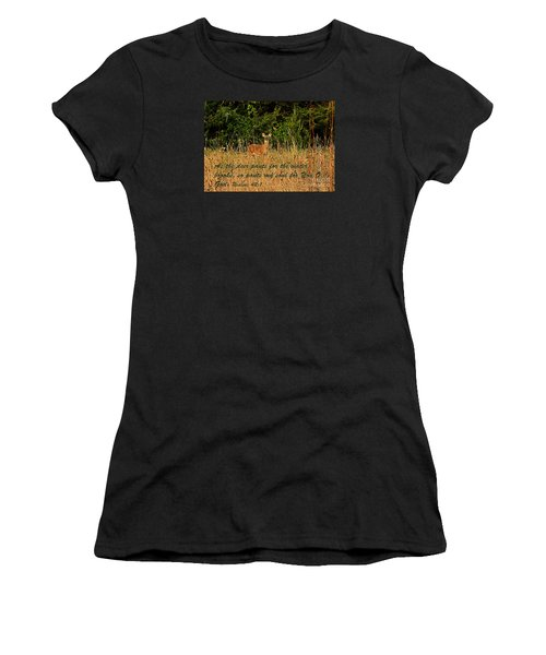 The Deer Women's T-Shirt (Athletic Fit)