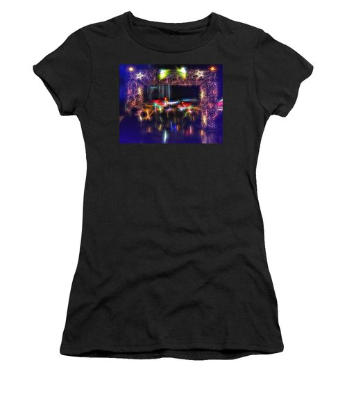 The Door To Christmas Women's T-Shirt (Athletic Fit)