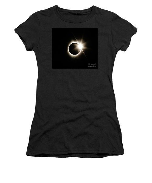 The Edge Of Totality Women's T-Shirt (Athletic Fit)