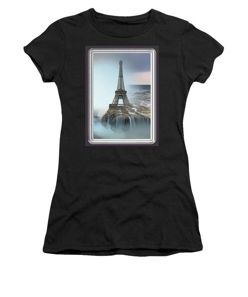 The Eiffel Tower In Montage Women's T-Shirt (Athletic Fit)