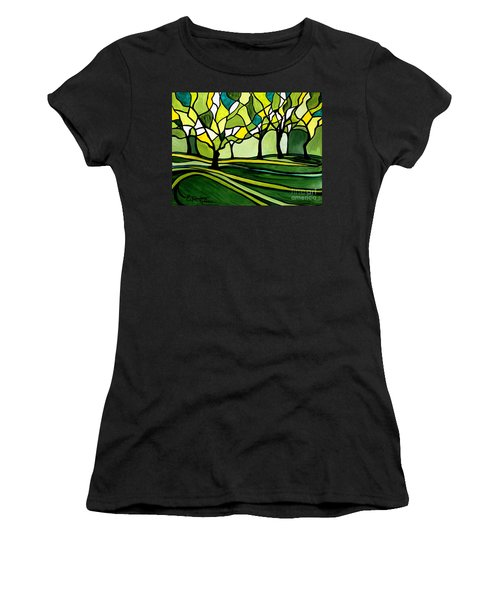 The Emerald Glass Forest Women's T-Shirt (Athletic Fit)