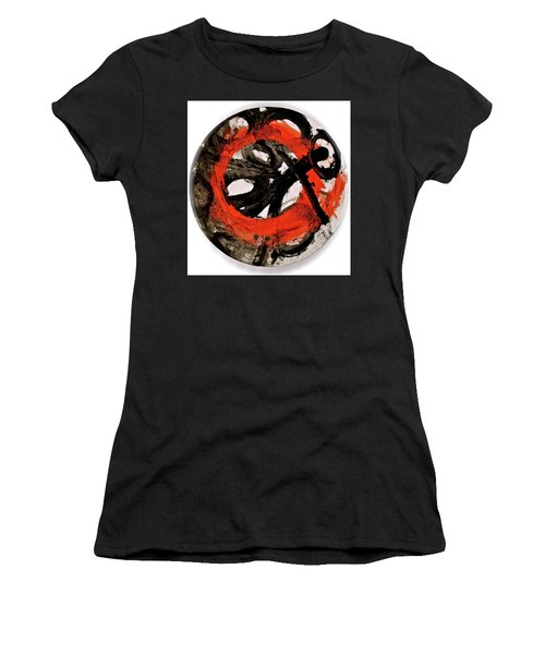 Women's T-Shirt (Junior Cut) featuring the painting The Escape Velocity Of Zen-or Metaphysics At A Glance by Cliff Spohn