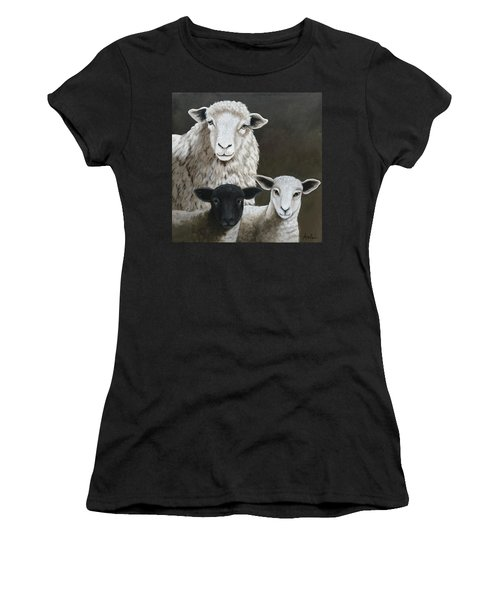 The Family - Sheep Oil Painting Women's T-Shirt