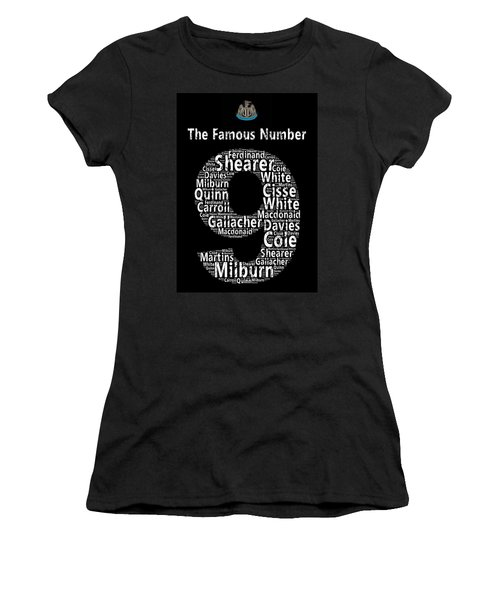 The Famous Number 9 - Newcastle United Wordart Women's T-Shirt