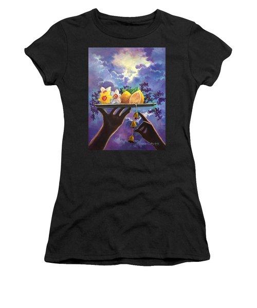 The Five Senses Women's T-Shirt (Junior Cut) by Randy Burns